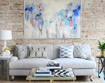 Blue Abstract Art, Abstract Print , Giclee Print , Canvas print,  Modern Art , Fine Art Print ,Wall Decor, Wall Art