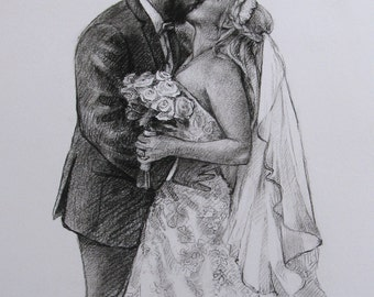 Wedding gift for wife birthday gift wife personalized Drawing from photo