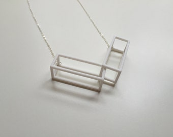 Winter II Necklace in White - Collar necklace - Geometric Statement Jewelry - 3D Printed