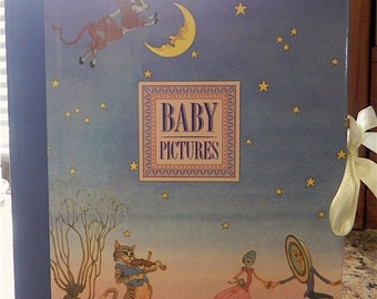 Hey Diddle Diddle Baby Photo Album Multi-Color Nursery Rhymes 1995 Boys Girls