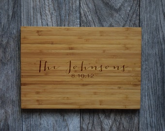 Custom Cutting Board , Engraved Cutting Board, Personalized Cutting Board, Wedding Gift, Housewarming Gift, Anniversary Gift