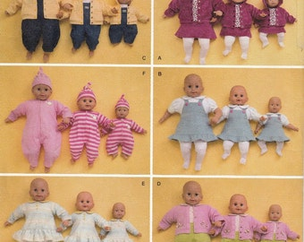 Baby Doll Clothes Sewing Pattern, Baby Doll Costumes Sewing Patterns, Baby Doll Clothes Pattern, Uncut Sewing Pattern, Simplicity 3572