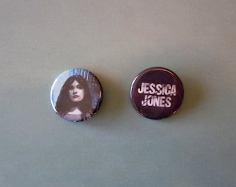 Jessica Jones Inspired Pinback Buttons