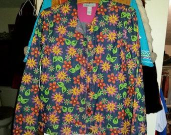 Spring Denim Jacket, 70's, Flower Power Jacket