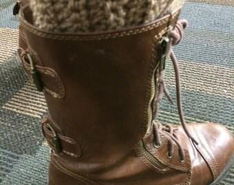 Handmade Crochet Scalloped Boot Cuffs