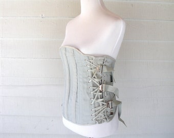 60s MEDICAL Camp BONED Corset Strap Girdle SMALL Medium