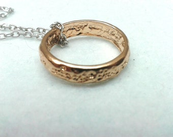 One Ring Necklace; Frodo Necklace; Sauron Ring; Fantasy Necklace; One Ring to Rule Them All Necklace