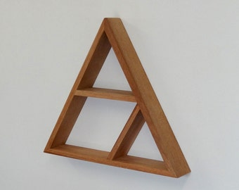 Triangle Wooden Shelf // Geometric Shelf // Maple