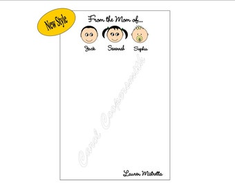 From The Mom of.....Notepads. Grandma, Nana, Dad, Grandpa, Auntie or more Personalized -BUY 3 GET 1 FREE!!