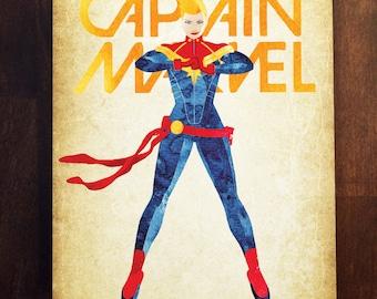 Captain Marvel - Carol Danvers Metal Plate