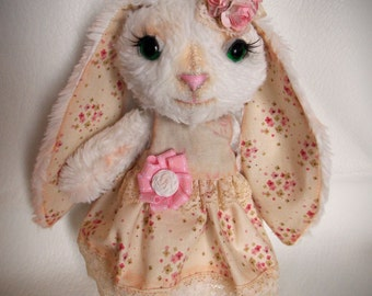 Fleur, little rabbit, stuffed animal, soft toy, plushie, collectible toy