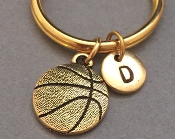 Basketball keychain, basketball charm, sports keychain, personalized keychain, initial keychain, customized keychain, monogram