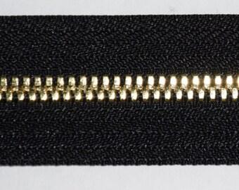1 yard No. 5 Luxury Zipper Chain - Gold Finish