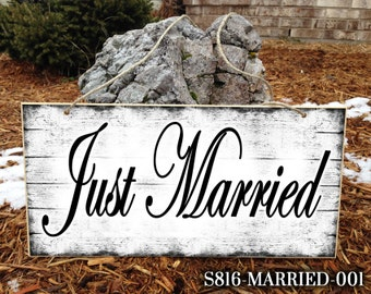 Just Married Sign, Custom Wedding Sign, Cute Wedding Sign, Ring Bearer Sign, Wedding Sign, Personalized Wedding Sign, Wedding Just Married