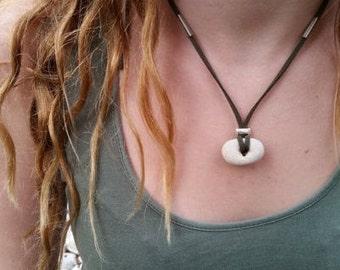Hagstone Necklace, Hagstone Pendant, Hag stone Talisman, Adder Wiccan Pendant, Witchcraft Necklace, Healing Necklace, Hag stone Jewelry