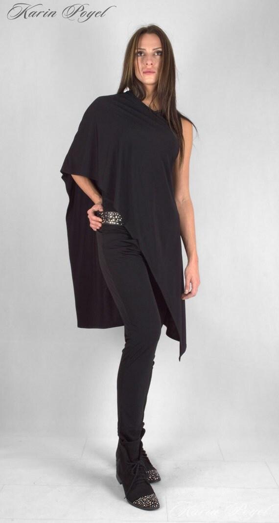New! Multi-Topper Black L2 / Jersey Scarf / Multi Color Shawl / Jersey Cape / KARIN # 5005