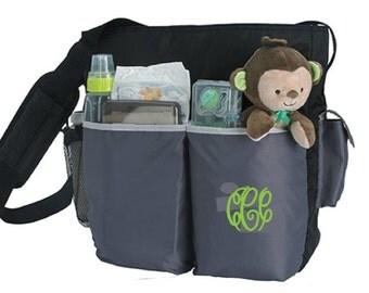 Monogrammed Tot Diaper Bag 57291N, embroidered diaper bag, baby bag