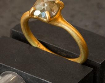 Rose-Cut Diamond Gold Ring