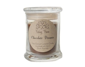 Chocolate Dreams Triple Scented Container Candle. Regular 40+ Burning Hours