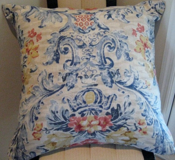 Extra Large Floral Pillow Cover 26 x 26 Throw Pillow Cover