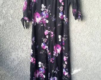 Purple floral Naturally Yours maxi dress