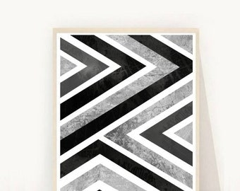 Abstract Geometric, Art Print, Printable Art, Digital Download, Scandinavian Art,Geometric Print, Modern Wall Art, Abstract Wall Decor