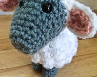 Crocheted Lamb, Crocheted Farm Animals, Stuffed Lamb, Plush Lamb, Amigurumi Lamb