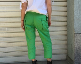 Loose Casual Linen Pants / Extravagant Trousers / Summer Pants / Women Casual Pants / EXPRESS SHIPPING