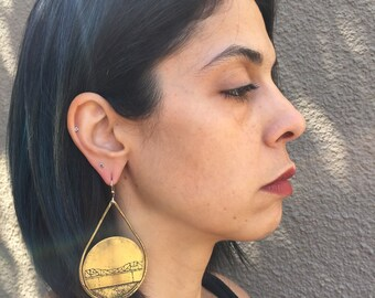 Broadway Bridge Earrings, Portland Oregon, Portland Earrings, PDX Earrings, Modern Portland, Portlandia, Oregon Jewelry, Pacific Northwest
