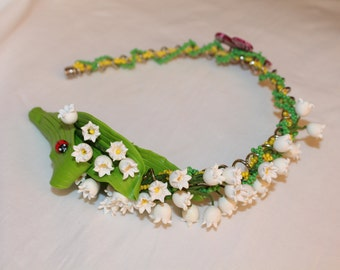 Lily of the valley Hair Band - Flowers Hair Band - Child Hair Band