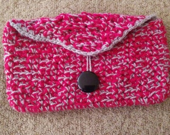 hand crochet clutch bag