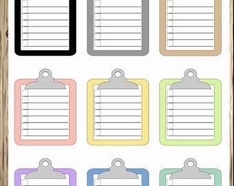 To Do Clipboard Stickers for your Erin Condren Planner