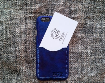 iPhone 6 6s, iPhone 7 leather case with card slot, iPhone 6s wallet 'Old Navy'