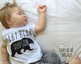 Personalized Baby Bear - Baby Bodysuit - Kid Shirt