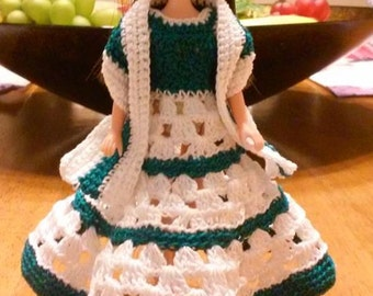 Crochet Dawn doll gown with wrap