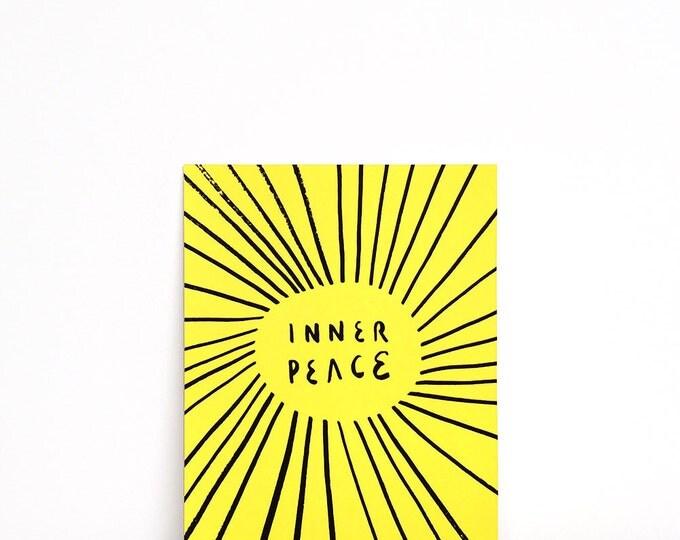 "Inner Peace Print | 6"" x 8"" | Typography, Art Print, Digital Print | Home Wall Decor"