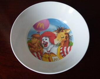 McDonald's Bowl, Child's McDonald's Bowl, Animal Bowl, Ronald McDonald Bowl,