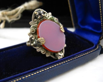 Vintage stone and metal ring