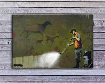 "Banksy, Erasing History (18"" x 30"") - Canvas Wrap Print"