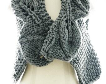 PDF Knitting Pattern - Foliage - Chunky knit vest pattern
