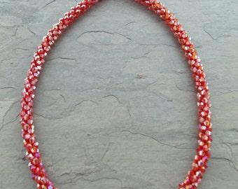 Crystal Bib Necklace, Long Crystal Necklace, Funky Jewelry, Stone Jewelry