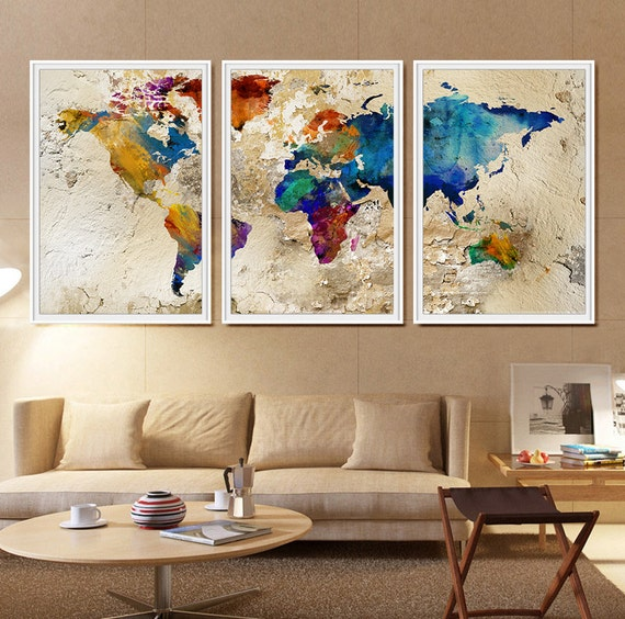 World map watercolor watercolor world map large world map like this item gumiabroncs Image collections
