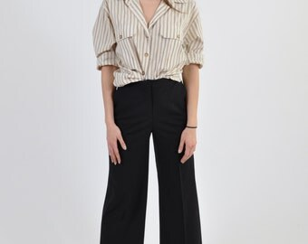 1990's BOYFRIEND oversize earth tone striped shirt