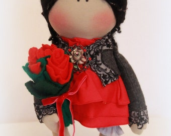 "Handmade doll ""Carmen"" height -42 cm"