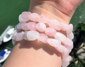 Rose Quartz Bracelet infused w/ Love and Reiki