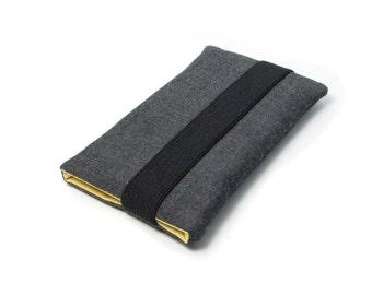 Iphone SE Sleeve, Iphone 5s Case, Sleeve Iphone 5 - Yellow, Gray, Black, Fabric