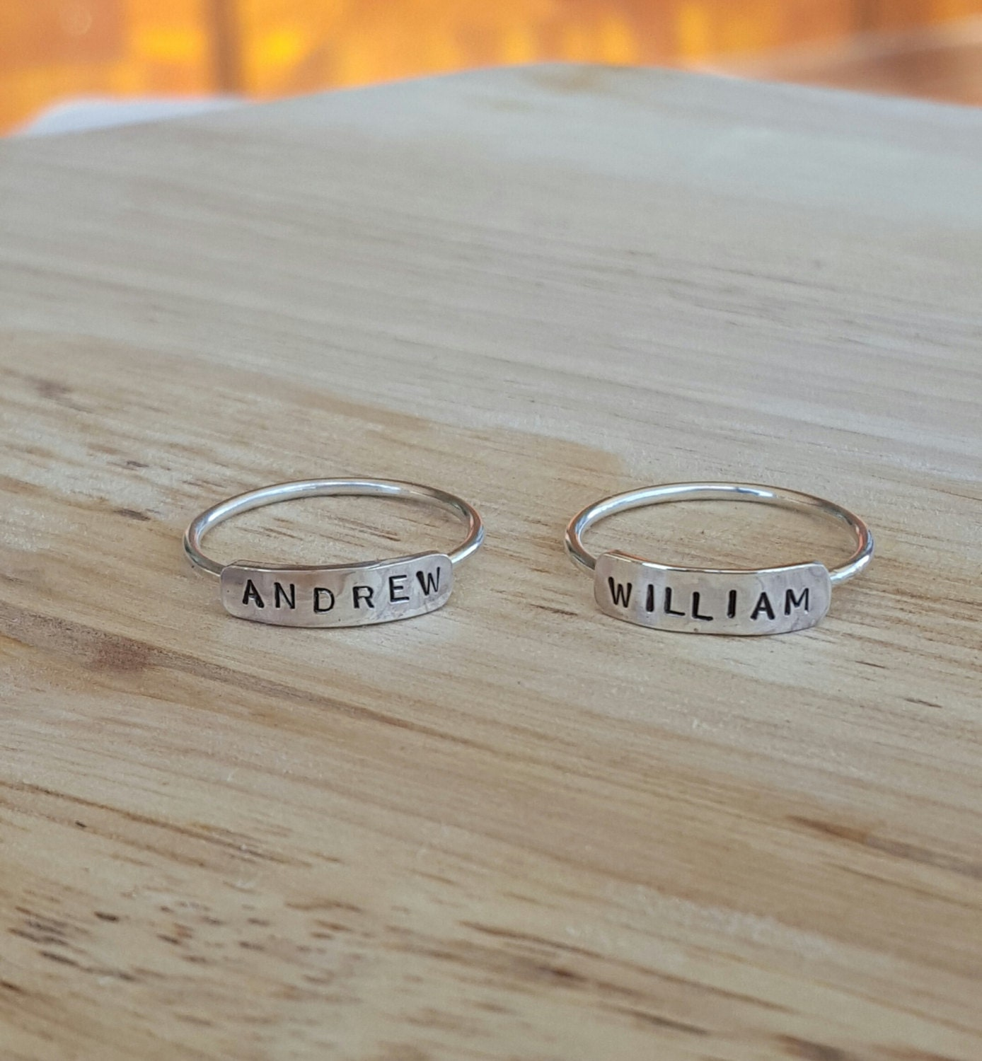 name ring custom personalized date sterling silver rings. Black Bedroom Furniture Sets. Home Design Ideas