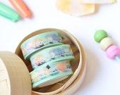 "Ice Cream Washi - ""Chinatown Ice Cream Factory"" [Green Washi, Washi Tape, Planner Accessory, Washi Set, Plum Planner, Washi Samples] - W006"