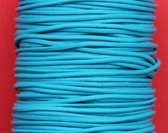MADE IN SPAIN 6 feet 2mm leather cord, 2mm turquoise leather cord, 2mm jewelry leather cord (2AZL)
