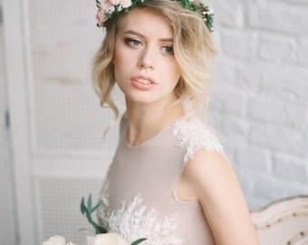 Bridal floral crown, Bridal flower crown, Wedding crown,Woodland wedding, Wedding flower crown, flower crown, floral crown, Wedding headpiec